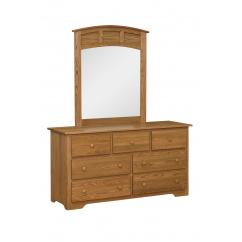 Wooden Shaker Style Dresser with Mirror