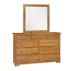 Wooden Shaker style mule chest with mirror