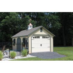 12x24 SmartPanel Garden Shed with Rounded Doors, Carlisle Cupola and More