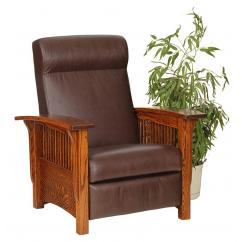 Wooden Recliner with Cushion Shown in 16-52 Reap Fabric