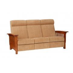 Wooden Recliner Sofa with Cushion Shown in 16-52 Reap Fabric