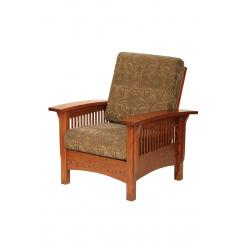 Wooden Chair with Cushion Shown in 10-11 Myth Fabric