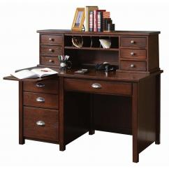 Wooden Writing Desk Hutch