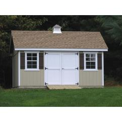 10x14 SmartPanel Garden Shed Shown with Options