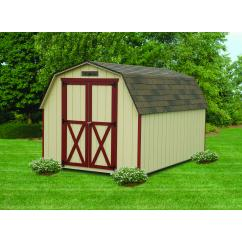 8x10 SmartPanel Mini Barn with Metal Gable Vents