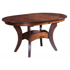 Wooden Oval Trestle Table