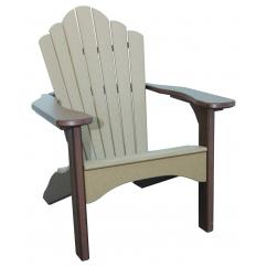 Adirondack Chair - Weathered Wood on Brown