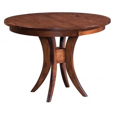 Wooden Round Trestle Table